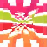 Quadratisches buntes Muster Stockbild