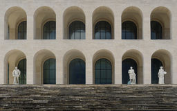 Quadratisches Colosseum an Eur, Rom Lizenzfreie Stockbilder