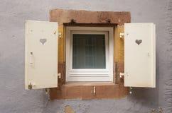 Quadratisches Fenster Stockfoto