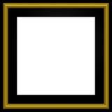 Quadratisches goldenes Foto-Feld lizenzfreie abbildung