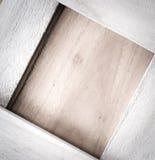 Quadratisches Holz der Weinlese Stockfoto