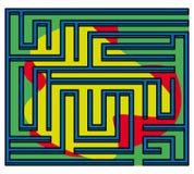 Quadratisches Labyrinth 3d 13x13 (vielfarbig) Lizenzfreies Stockfoto
