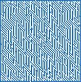 Quadratisches Labyrinth 49x36 (dunkelblau) Stockfotografie