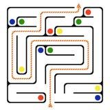 Quadratisches Labyrinth 10x10 (Schwarzes) Lizenzfreie Stockfotos