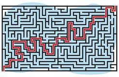 Quadratisches Labyrinth 37x21 (Schwarzes) Stockbilder