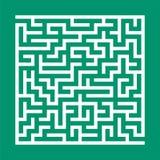 Quadratisches Labyrinth Spiel für Kinder Puzzlespiel für Kinder Labyrinthvexierfrage Flache Vektorillustration lokalisiert auf Fa vektor abbildung