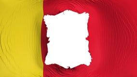 Quadratisches Loch in der Moroni-Flagge lizenzfreie abbildung