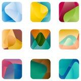 Quadratisches Logo des Entwurfs, Vektorikonenschablone Lizenzfreie Stockfotografie