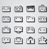 Quadratisches minimales Gegenstanddesign Stockfotografie