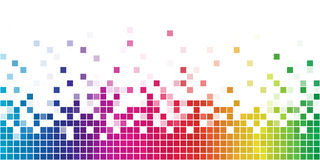 Quadratisches Mosaik des Regenbogens Stockfotos