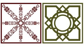 Quadratisches Motiv zwei Stock Abbildung