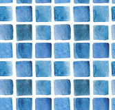 Quadratisches Muster des Aquarells Stockfotos