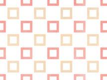 Quadratisches Muster des Aquarells Stockfotografie