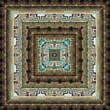 Quadratisches Muster des modernen geometrischen griechischen Vektors 3d panel mandala fliese Dekorativer strukturierter abstrakte vektor abbildung