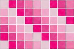 Quadratisches Muster im roten und rosa Farbton Lizenzfreie Stockfotos