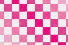 Quadratisches Muster im weiße und rote Farbton Stockfoto