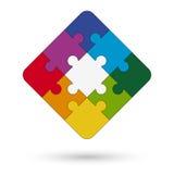 quadratisches Puzzlespiel mit Mitte Stockfotos