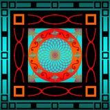 Quadratisches Retro- Muster Lizenzfreies Stockbild