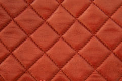 Quadratisches rotes Leder Lizenzfreies Stockbild