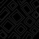Quadratisches Schwarzweiss-Muster der Zusammenfassung als Illustrationshintergrund und -tapete stock abbildung