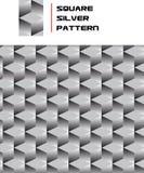 Quadratisches silbernes Muster Stockbild