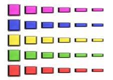 Quadratisches Tastenset Lizenzfreie Stockfotos