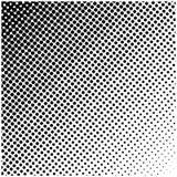 Quadratisches Vektorhalbtonlogo, Symbol, Ikone, Design Zusammenfassung punktierte Illustration auf weißem Hintergrund Lizenzfreie Stockbilder