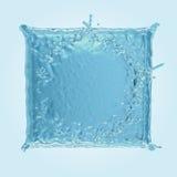 Quadratisches Wasserspritzen Lizenzfreie Stockbilder