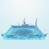 Quadratisches Wasserspritzen Lizenzfreies Stockbild