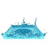 Quadratisches Wasserspritzen Stockbilder