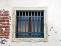 Quadratisches weißes Fenster stockfotos