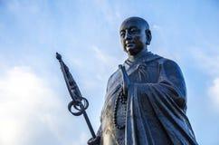 Quadratmönch-Statuenskulptur Dayan Tanane Lizenzfreies Stockbild