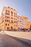 Quadrato al panteon a Roma in Italia Immagini Stock