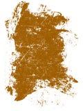 Quadrato arancione di Grunge Immagine Stock