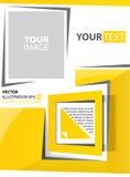 Quadrato astratto di giallo del fondo Illustrazione Vettoriale