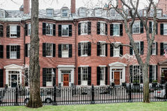 Quadrato Beacon Hill Boston di Louisburg Fotografia Stock Libera da Diritti