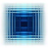 Quadrato blu Illustrazione di Stock