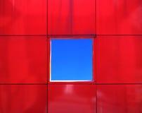Quadrato blu Fotografie Stock
