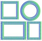 Quadrato blu e verde, giro, struttura rettangolare Immagine Stock Libera da Diritti