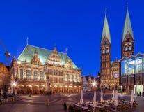 Quadrato Brema Germania del mercato Fotografie Stock Libere da Diritti