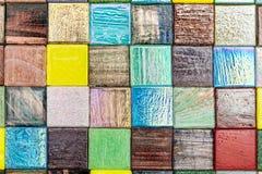 Quadrato brillante poco smalt multicolore di vetro con il reflecti leggero Immagine Stock Libera da Diritti