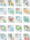 Quadrato buttons1 Fotografie Stock Libere da Diritti
