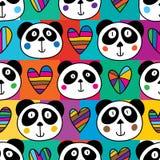 Quadrato capo di amore del panda senza cuciture illustrazione vettoriale