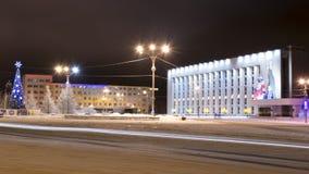 Quadrato centrale di Moncegorsk Fotografia Stock Libera da Diritti