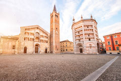Quadrato centrale di Parma Immagine Stock