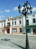 Quadrato centrale nella città di Zhovkva (Ucraina) Fotografie Stock