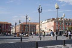 Quadrato centrale in Nizza, Francia Immagini Stock Libere da Diritti