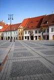 Quadrato centrale, Sibiu Immagini Stock Libere da Diritti