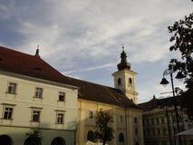 Quadrato centrale a Sibiu Immagini Stock