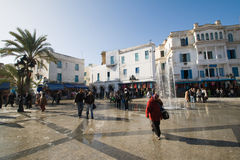 Quadrato centrale a Tunisi, Tunisia Immagine Stock